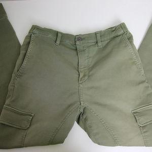 Joe's Jeans Cargo Sweat Pants Size 33 Green